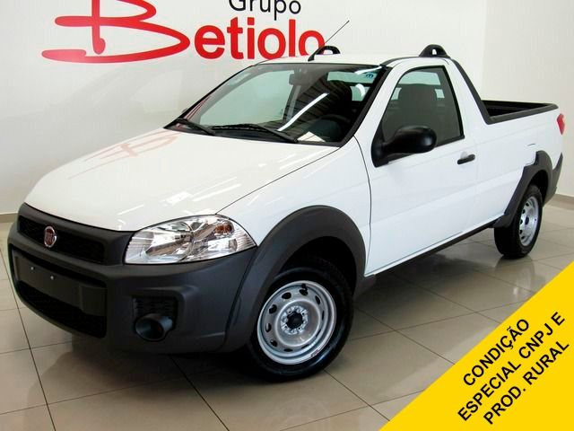 Fiat Strada Hard Working 1.4 EVO Flex Zero Km, Branco, 2 portas, Manual, Gasolina e Álcool Seminovos